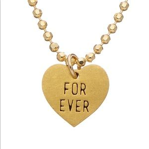 """Dogeared """"Forever"""" heart necklace 💖"""